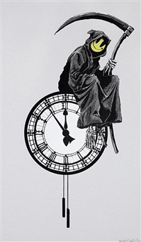 grin reaper by banksy