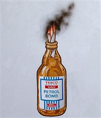 tesco petrol bomb by banksy
