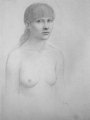 untitled drawing by william h. bailey