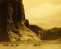canyon de chelly - navaho by edward sheriff curtis