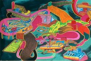 suburban houses ii by peter saul