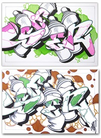 spray cans (2 works) by seen