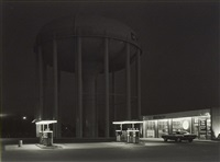 petit's mobil station, cherry hill, new jersey by george tice