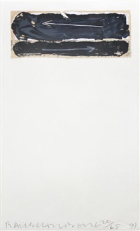 shirtboard (from shirtboards, morocco, italy '52 portfolio) by robert rauschenberg