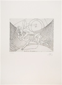 new school (full portfolio of 10 prints) by roberto matta