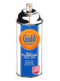 gold medal all-purpose flour spray by mr. brainwash
