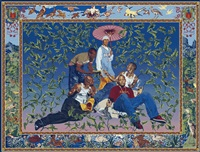 the gypsy fortune-teller by kehinde wiley