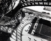 under the eiffel tower, paris by andré kertész