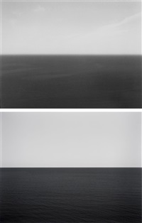 time exposed #368: black sea oak bagir, 1991 (+ time exposed #301: caribbean sea jamaica, 1980; 2 works) by hiroshi sugimoto