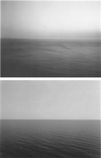 time exposed #305: sea of japan, hokkaido, 1986 (+ time exposed #342: adriatic sea, gargano, 1990; 2 works) by hiroshi sugimoto
