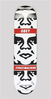 obey 3-face skate deck by shepard fairey