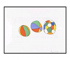 3 balls by donald baechler
