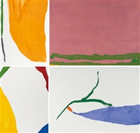 four pochoirs (complete set of 4 works) by helen frankenthaler