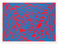 loopy doopy, blue/red by sol lewitt