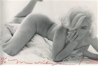 marilyn monroe, nude on the bed by bert stern