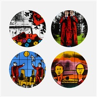 set of 4 plates by gilbert & george