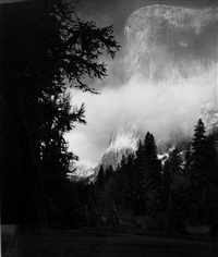 el capitan, winter sunrise by ansel adams
