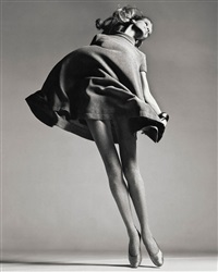 veruschka, dress by bill blass, new york studio, january by richard avedon