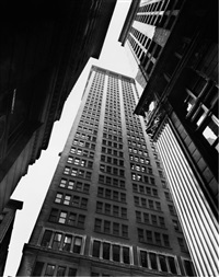 canyon: broadway and exchange place by berenice abbott