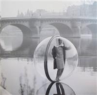 bubble on the seine, paris, harper's bazaar by melvin sokolsky