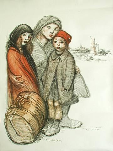 l'aisne devastée by théophile alexandre steinlen