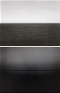 time exposed #331: tasman sea, ngarupupu (+ time exposed #354: miltoan sea, sounion; 2 works) by hiroshi sugimoto