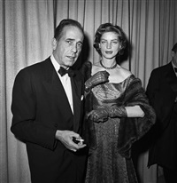 humphrey bogart and lauren bacall at the oscars by frank worth