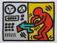 untitled, plate 1 (from pop shop iii) by keith haring