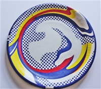 paper plate by roy lichtenstein
