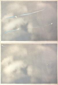 untitled i (torn clouds) (+ untitled ii (torn clouds); 2 works) by joe goode