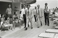 frank sinatra and bodyguards, miami beach by terry o'neill