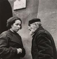 warsaw, grandfather and granddaughter by roman vishniac