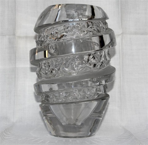 French Art Deco Carved Etched Glass Vase By Aristide Colotte On Artnet