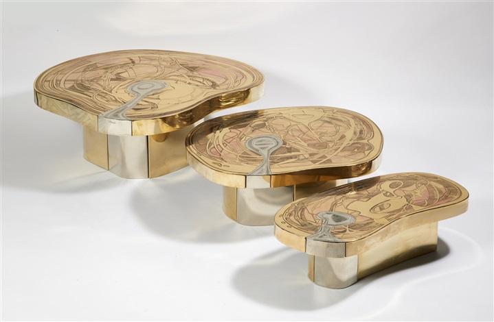 Ensemble de tables basses by emmanuel jonckers on artnet - Tables basses carrees ...