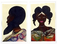 untitled (+ untitled; 2 works) by chris ofili