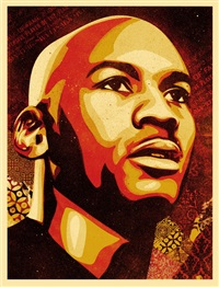 hall of fame portrait by shepard fairey