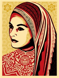peace woman by shepard fairey