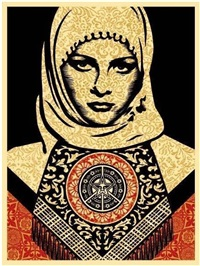 arab woman by shepard fairey