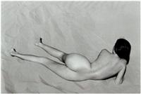 nude (charis on dunes) by edward weston