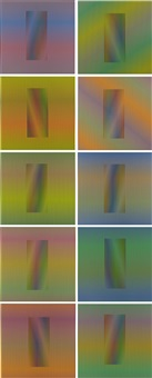 inducción cromática a doble frecuencia (complete set of 10 works) by carlos cruz-diez