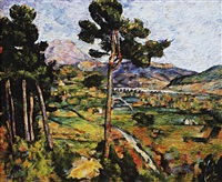 montagne saint-victoire seen from montbriand, after cézanne (pictures of pigment) by vik muniz