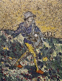 the sower, after van gogh (pictures of nature) by vik muniz