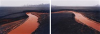 nickel tailings #34 and #35 (2 works) by edward burtynsky