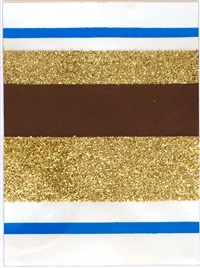 untitled (blue, gold, brown) by josephine meckseper