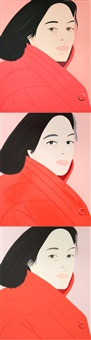 brisk day i-iii (complete set of 3 works) by alex katz