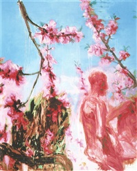 peach blossom (two figures) by zhou chunya