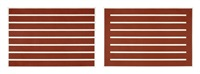 untitled (2 works) by donald judd