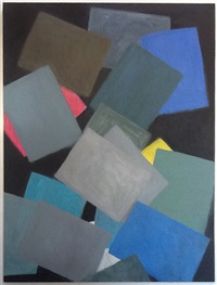 paper at night (two grey, two blue) by scott reeder