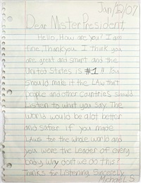 dear mr. president by michael scoggins
