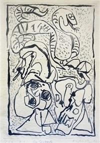 ca serpente by pierre alechinsky